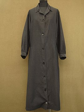 cir. 1940's printed work dress / coat