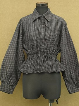 early 20th c. printed black blouse