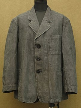 cir.1940's herringbone striped cotton jacket