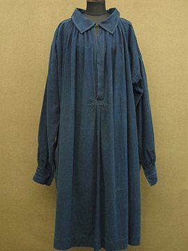 cir. early 20th c. indigo cotton smock