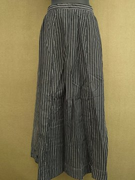 cir. 1900's striped black long skirt