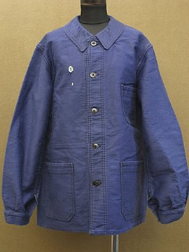 mid 20th c. dead stock blue moleskin work jacket