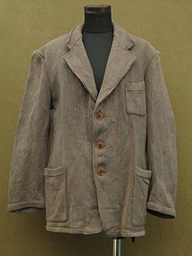 cir. mid 20th c. gray pique work jacket