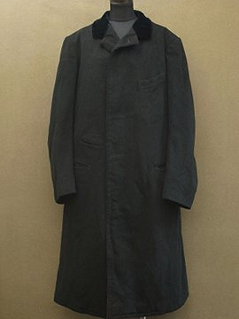1920-1930's Belle Jardiniere black wool coat