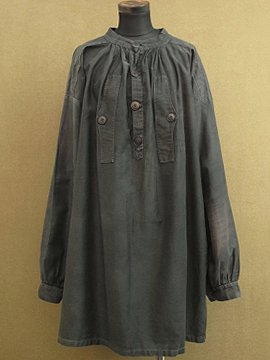 early 20th c. black cotton work smock