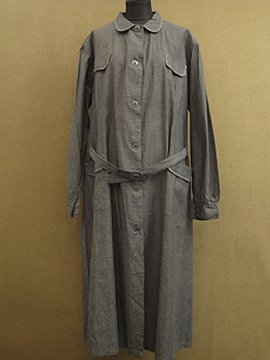 cir.1940-1950's gray work dress/coat dead stock