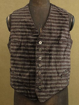 cir.1930's-1940's striped silk velvet gilet