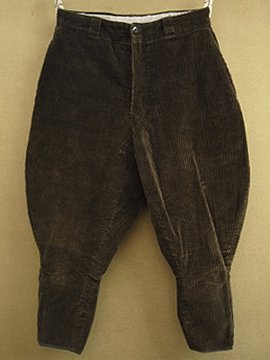 mid. 20th c. brown cord jodhpurs