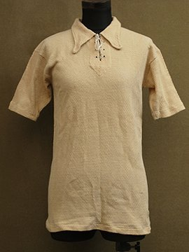 cir.1940's lace up S/SL top