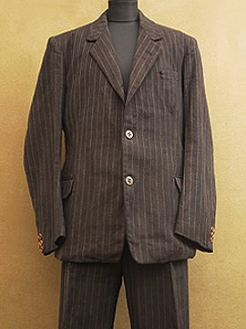 1930's-1940's striped jacket & trousers