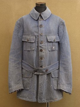 cir. 1930-1940's blue cotton work Jacket