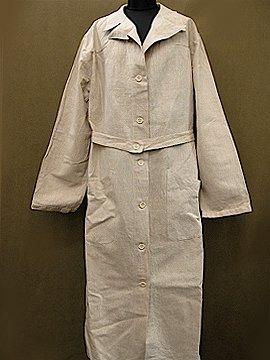mid 20th c. beige linen coat