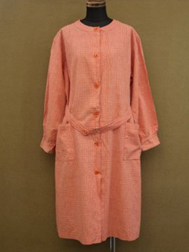 cir. mid 20th c. check work coat/dress
