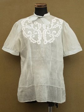 1910-1920's pale blue cotton blouse