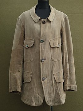 cir.1930's linen × cotton hunting jacket
