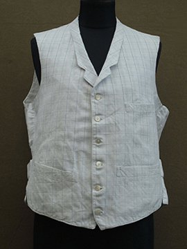 cir.1920's-1930's checked gilet