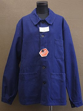 mid 20th c. dead stock blue cotton work jacket