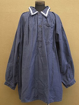 cir.1920-1930's blue cotton twill smock
