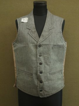 cir.1930-1940's dead stock striped gillet