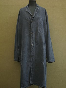 1940's-1950's black linen work coat
