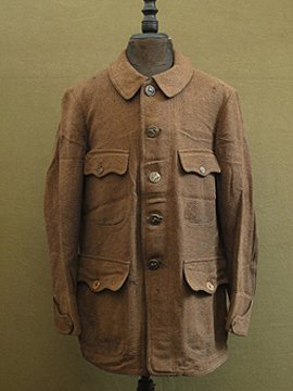 cir.1930's brown wool hunting jacket