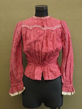 cir.1900's red blouse