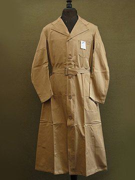 cir.1940-1950's dead stock beige cotton work coat
