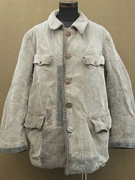 cir. 1930 - 1950's gray cord hunting jacket