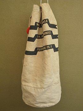 1950's beige linen sack