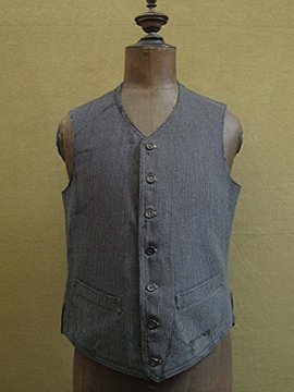 cir.1930's-1940's striped wool gilet