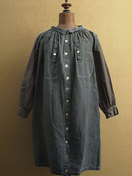 cir.early 20th c. indigo linen smock