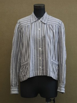 cir.1930's striped blouse/Jacket
