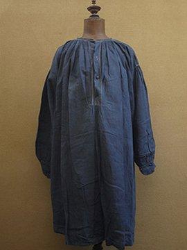 late 19th c.-early 20th c. indigo smock