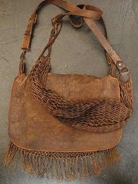 cir.early 20th c. hunting bag & net bag