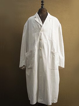 cir.1930-1940's white work coat