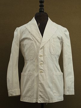 cir.1930's military white cotton jacket