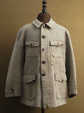 1930-1940's salt&pepper cotton hunting jacket