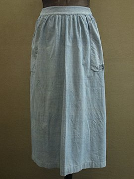 early 20th c. indigo striped apron