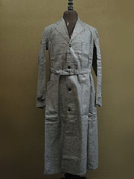 cir. 1940's dead stock linen chambray atelier coat