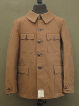 cir. 1940's dead stock canvas hunting jacket