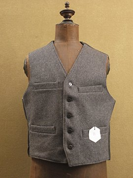 mid 20th c. wool work gilet dead stock
