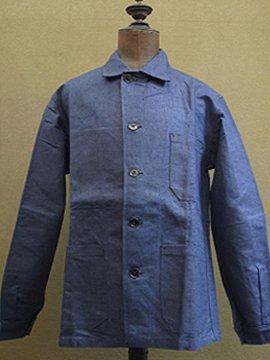 mid 20th c. linen work jacket dead stock