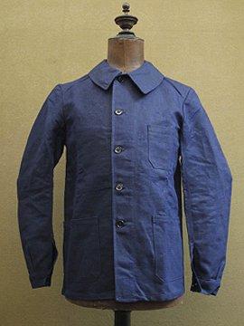 cir.1940's linen × cotton work jacket dead stock