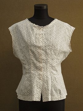 late 19th c.-early 20th c. printed N/SL top