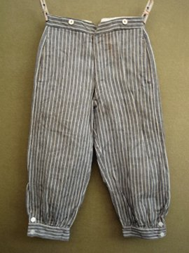 early 20th c. kids striped plus fours