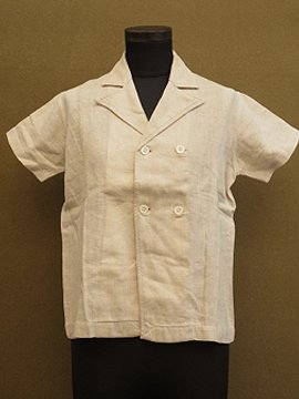 cir.1930's linen S/SL shirt