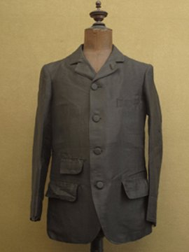 early 20th c. kid mohair summer sack jacket