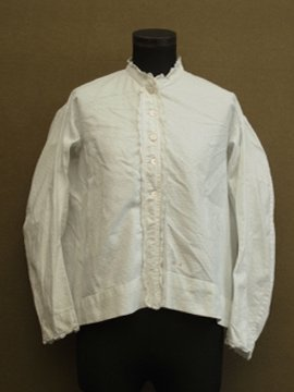 late 19th - early 20th c. white blouse handsewn