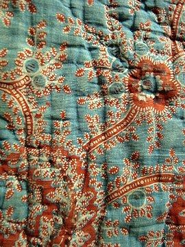 18th-19th c. indigo quilt