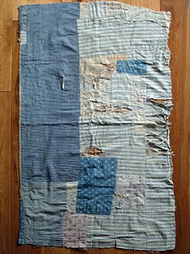 cir .late 19th c. pathed cloth
